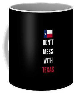 Don't Mess With Texas Tee Black Coffee Mug