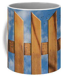 Coffee Mug featuring the photograph Don't Take A Fence by Paul Wear
