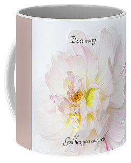 Coffee Mug featuring the photograph Don't Worry Square by Mary Jo Allen