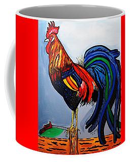 Doodle  Dum  Rooster Coffee Mug
