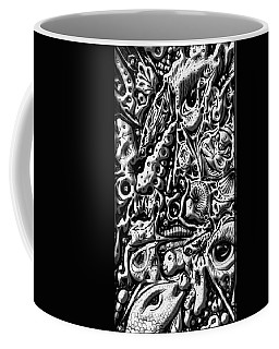 Coffee Mug featuring the digital art Doodle Emboss by Darren Cannell
