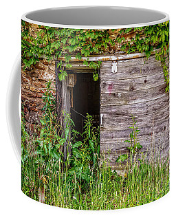 Coffee Mug featuring the photograph Door Ajar by Christopher Holmes