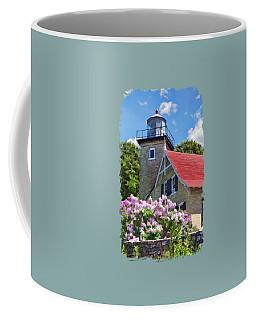 Door County Eagle Bluff Lighthouse Lilacs Coffee Mug