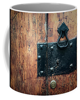 Coffee Mug featuring the photograph Door Hardware In Angra Do Heroismo Portugal by Kelly Hazel