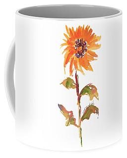 Door Keeper Sunflower Watercolor Painting By Kmcelwaine Coffee Mug