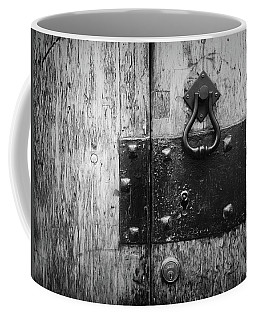 Coffee Mug featuring the photograph Door Latch In Angra Do Heroismo I by Kelly Hazel