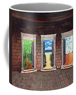 Door Number Three Coffee Mug