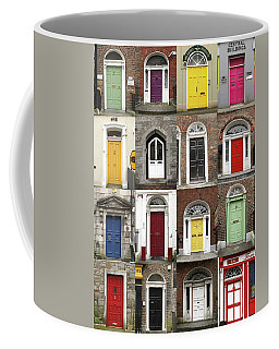 Coffee Mug featuring the photograph Doors Of Limerick by Marie Leslie