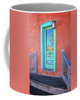 Doorway Reflection, Santa Fe, New Mexico Coffee Mug