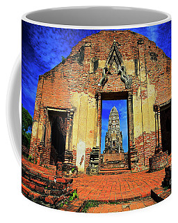 Doorway To Wat Ratburana In Ayutthaya, Thailand Coffee Mug