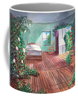 Coffee Mug featuring the painting Dorothys House After The Passage Of Time by Randol Burns