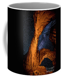 Double Arch And The Milky Way - Utah Coffee Mug