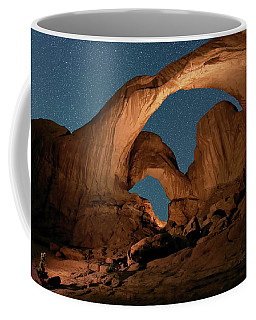 Double Arch And The Milky Way - Arches National Park - Moab, Utah By Olena Art - Brand  Coffee Mug