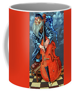 Double Bass And Bench Coffee Mug