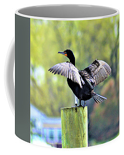 Coffee Mug featuring the photograph Double-crested Cormorant by Kathy Kelly