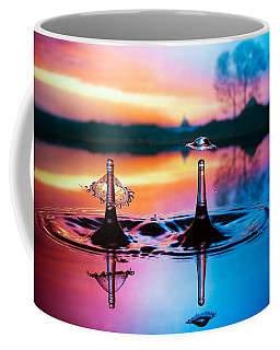 Double Liquid Art Coffee Mug