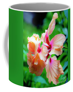 Double Peach Hibiscus Two Coffee Mug