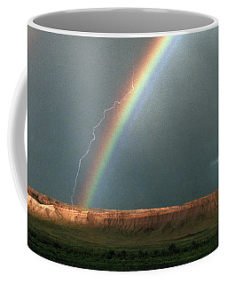 Double Rainbow And Lightning-signed Coffee Mug