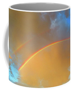 Double Rainbows In The Desert Coffee Mug