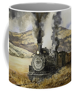 Coffee Mug featuring the painting Double Teamin To Cumbres Pass by Sam Sidders
