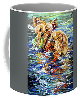 Double The Trouble Coffee Mug by Rae Andrews