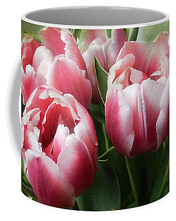 Coffee Mug featuring the photograph Double Tulips by Ann Jacobson