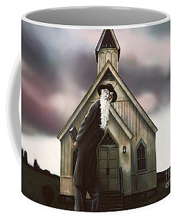 Coffee Mug featuring the painting Doubt Or Faith by Dave Luebbert