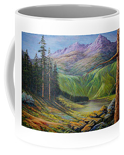 Coffee Mug featuring the painting Doug's  by Loxi Sibley