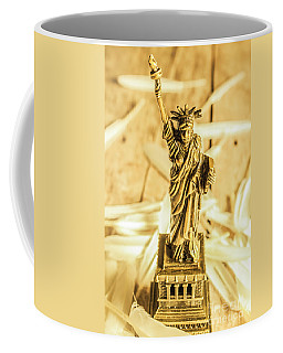 Dove Feathers And American Landmarks Coffee Mug