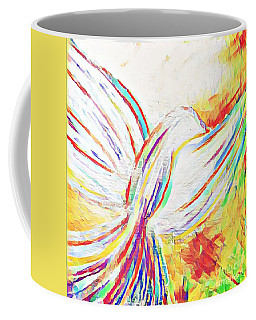 Coffee Mug featuring the mixed media Holy Spirit by Jessica Eli