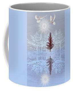 Doves In Winter Coffee Mug