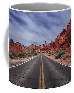 Down The Open Road Coffee Mug