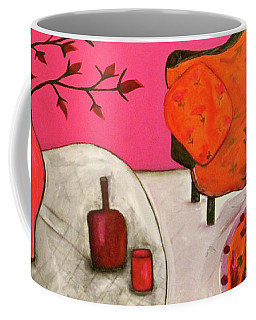 Down The Stairs Into The Living Room  By Paul Paucciarelli  Coffee Mug