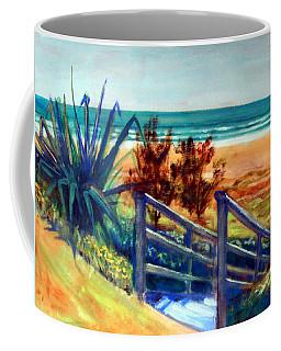 Down The Stairs To The Beach Coffee Mug