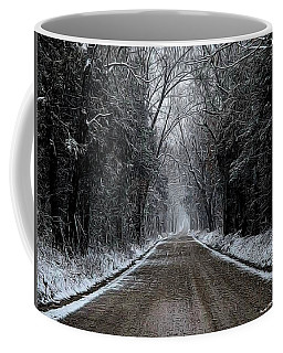 Down The Winter Road Coffee Mug