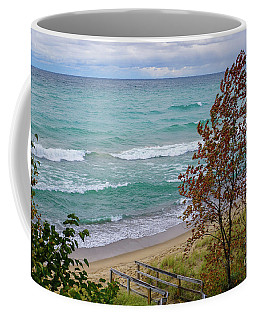 Coffee Mug featuring the photograph Down To The Shore by Rachel Cohen