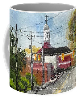 Coffee Mug featuring the painting Down Town Jacksonville Nc by Jim Phillips