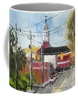 Down Town Jacksonville Nc Coffee Mug by Jim Phillips