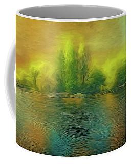Coffee Mug featuring the photograph Downriver Glow by Leigh Kemp