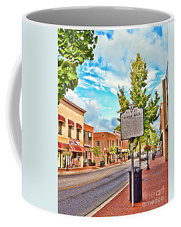 Downtown Blacksburg With Historical Marker Coffee Mug by Kerri Farley