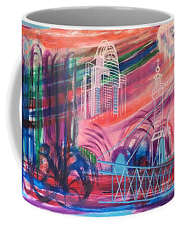 Coffee Mug featuring the painting Downtown Cincinnati by Diane Pape