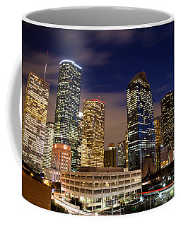 Downtown Houston At Night Coffee Mug