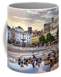 Downtown Lisbon Coffee Mug by Carlos Caetano