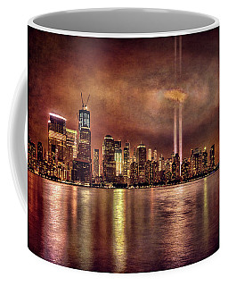 Coffee Mug featuring the photograph Downtown Manhattan September Eleventh by Chris Lord