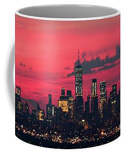 Downtown Manhattan Pre Dawn Coffee Mug