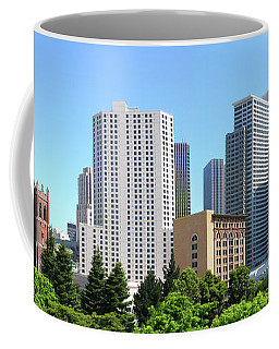 Coffee Mug featuring the photograph Downtown San Fransisco by Mike McGlothlen