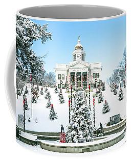 Downtown Sylva, Nc  Courthouse Christmas 2016 Coffee Mug
