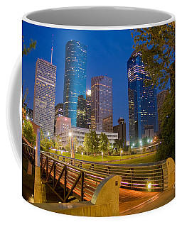 Dowtown Houston By Night Coffee Mug