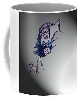 Coffee Mug featuring the mixed media Dracula - Let There Be Light by Art MacKay
