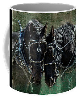 Coffee Mug featuring the photograph Draft Horses by Mary Hone